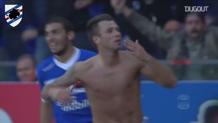 Cassano's skillfull strike against Fiorentina