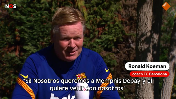 """Koeman: """"Queremos que Depay venga al Barça, él también quiere"""""""