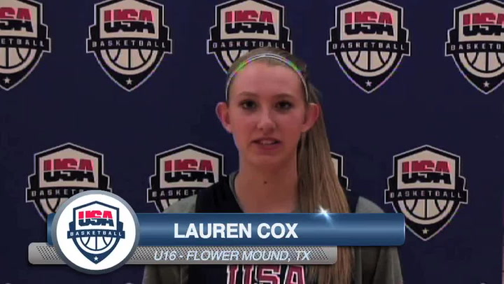 Lauren Cox On Usa Womens U16 Training Camp