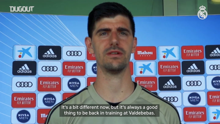 Courtois: 'We can't wait to restart LaLiga and we'll fight hard to win it'