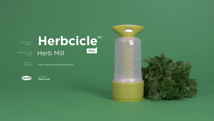 Preview image of Chef'n Herbcicle Plus Frozen Herb Keeper & Mill video