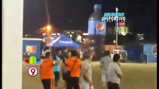 Lluvia de latas para el Boca Júnios en el Sergio Reyes de Santa Rosa de Copán