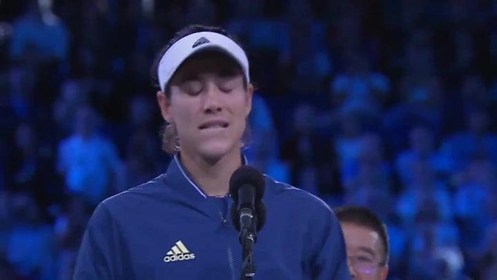 La emoción de Muguruza tras perder la final del Open de Australia