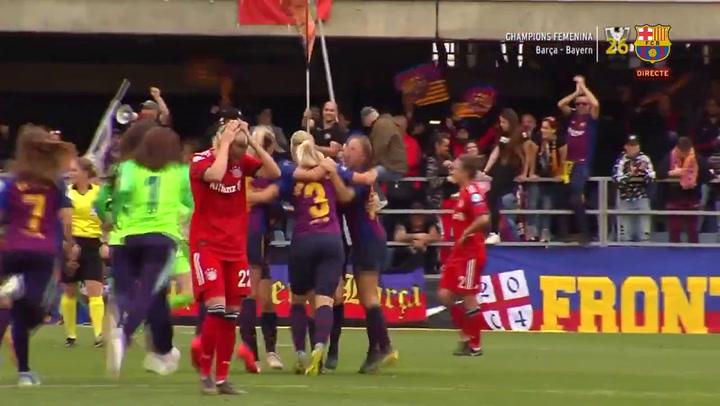 El Barça femenino hace historia y se mete en la gran final de la Champions