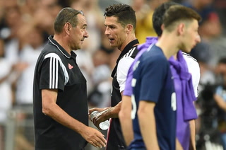 VIDEO: El primer enfado de Cristiano Ronaldo con Sarri en la Juventus