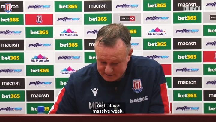 Stoke manager looks ahead to huge week