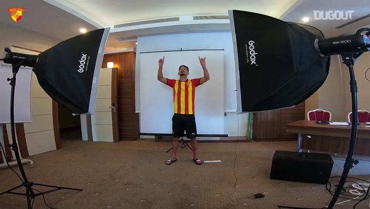 Göztepe oyuncularının yeni sezon gol sevinçleri
