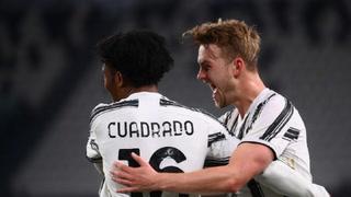 Juan Guillermo Cuadrado marca un golazo y le da vida a la Juventus contra el Inter