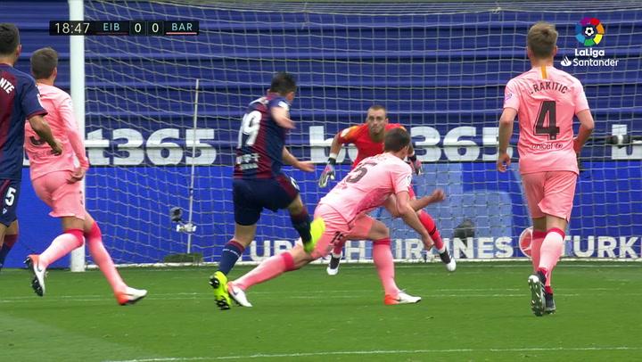 LaLiga: Eibar - Barça. El partido de Jasper Cillessen