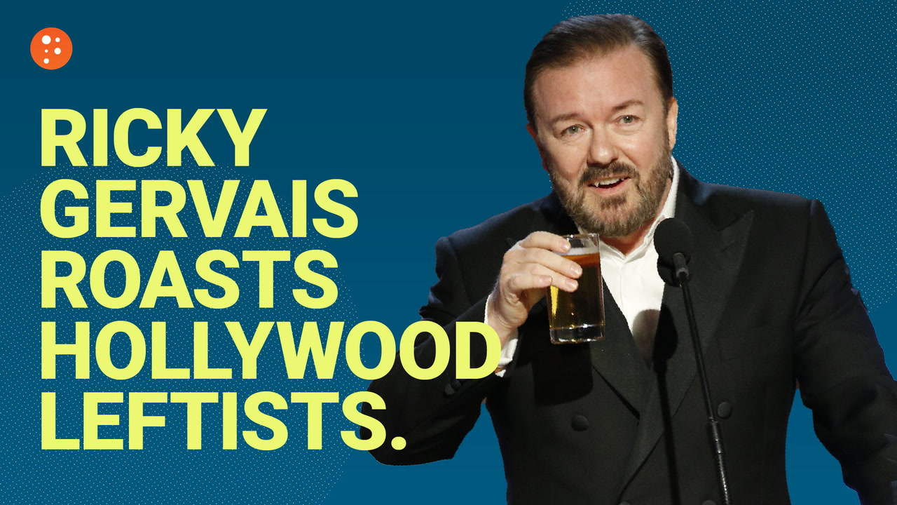 Ricky Gervais Roasts Hollywood Leftists