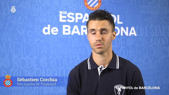 Primeras declaraciones de Corchia como jugador del Espanyol