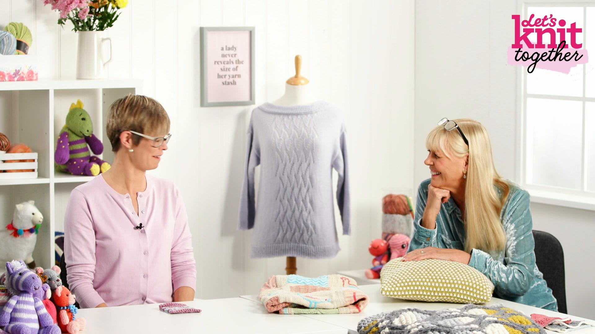 How to: work slip stitch knitting