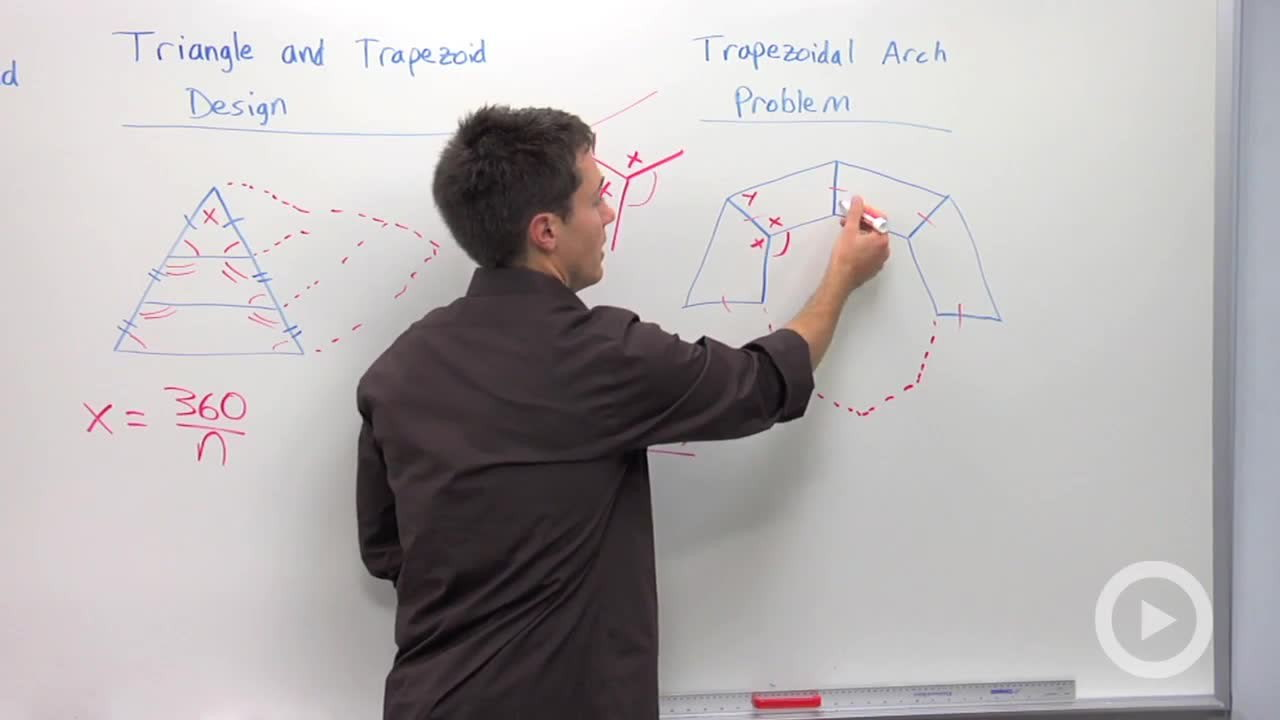 trapezoid arch and panel design problem - problem 2 - geometry video by  brightstorm