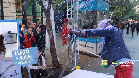 La nieve llegó a Rosario y a Bariloche