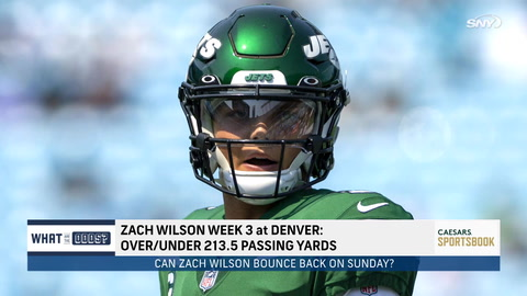 Can Zach Wilson bounce back in Denver after poor Week 2 outing?