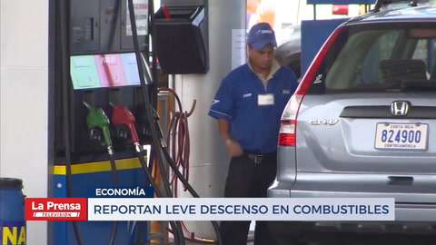 Reportan leve descenso en combustible