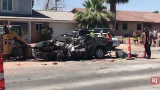 Woman killed in Las Vegas construction zone crash