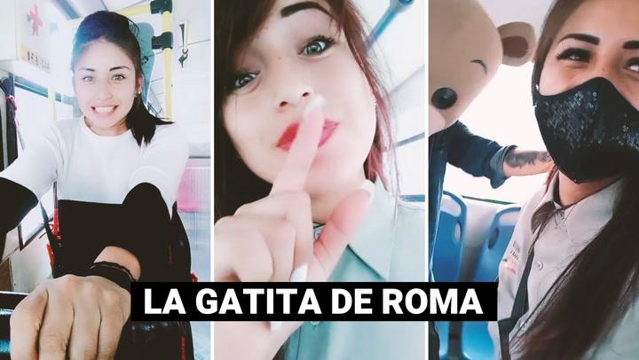 "Conoce a la popular ""Gatita de Roma"": la cobradora de bus que la rompe en TikTok"