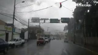 Este lunes se reportan fuertes aguaceros en la capital de Honduras