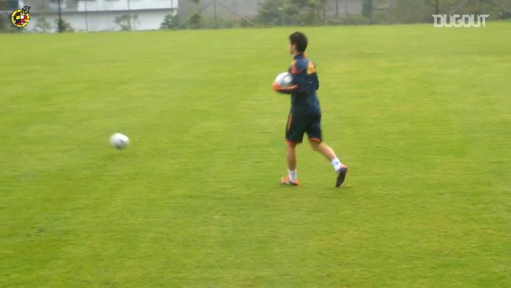 La calidad de Isco en un entrenamiento durante el Mundial Sub-20