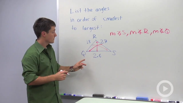 Triangle Side and Angle Inequalities - Problem 1