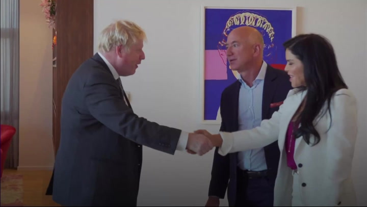 Boris Johnson makes rainforest joke as he meets Amazon founder Jeff Bezos