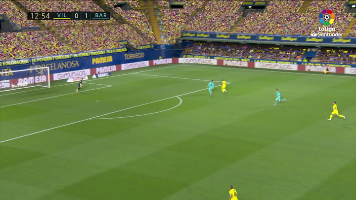 Gol de Gerard Moreno (1-1) en el Villarreal 1-4 Barcelona