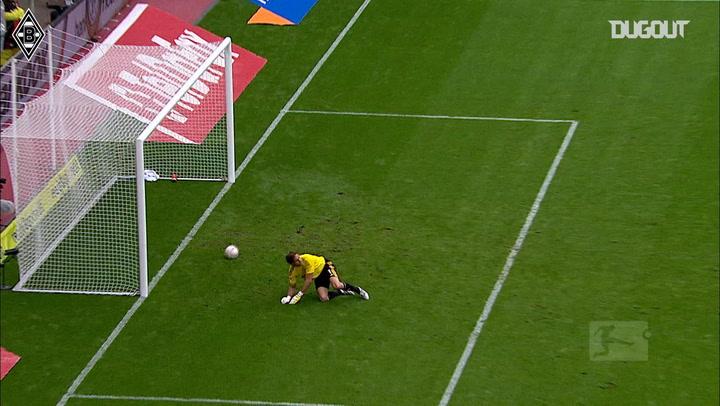 Patrick Herrmann's outside-of-the-boot strike against Leverkusen