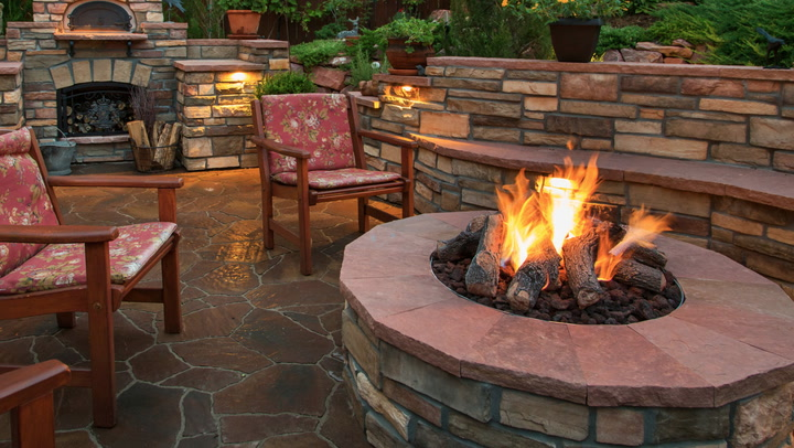 Video light it up how to build a backyard fire pit in 5 for Step by step fire pit