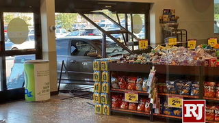 Car smashes through Smith's Marketplace
