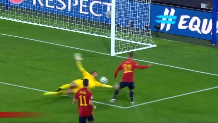 Dani Olmo debuta marcando su primer gol con la selección ante Malta