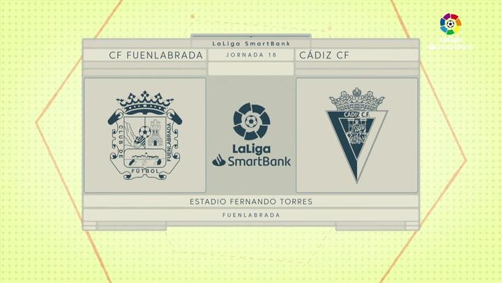 LaLiga SmartBank (J18): Resumen y gol del Fuenlabrada 1-0 Cádiz
