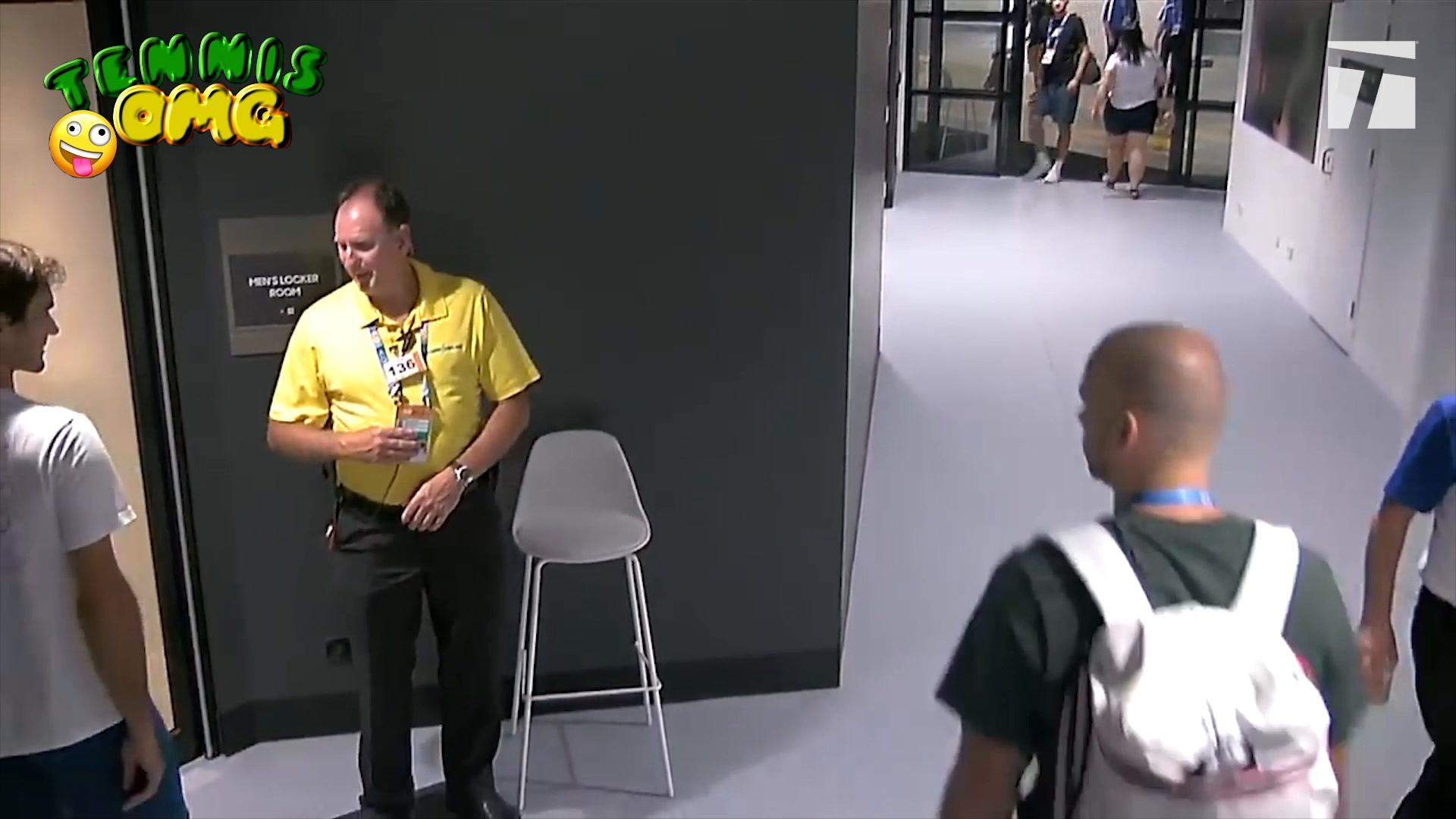 WATCH: Federer denied entry at locker room in Oz