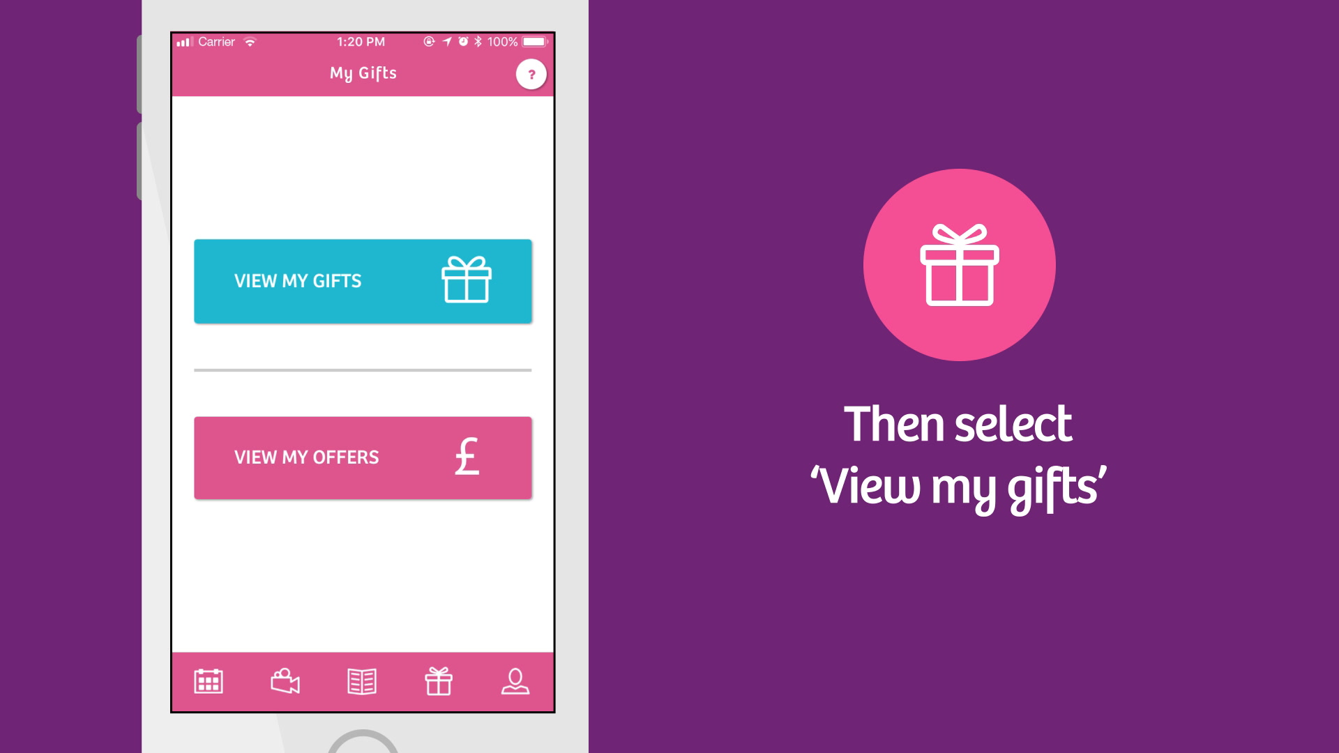 Download your free gift pack vouchers using the Emma's Diary App