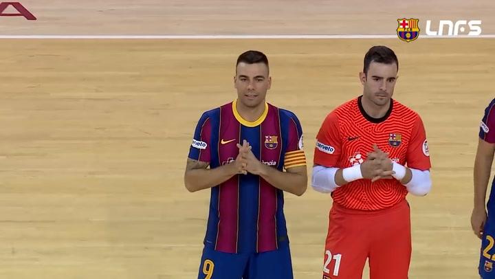 LNFS: Barça-Futbol Emotion Zaragoza 2-2 (jornada 7 Temp 20-21)