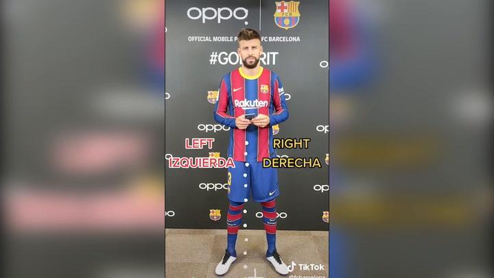 El 'TikTok Challenge' de los jugadores del Barça