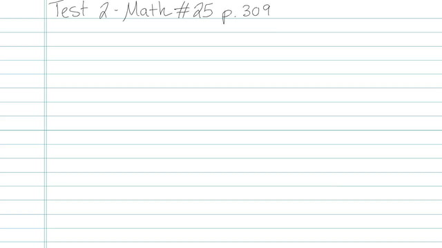 Test 2 - Math - Question 25