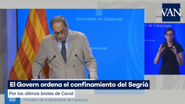 El Govern ordena el confinamiento de la comarca leridana del Segrià