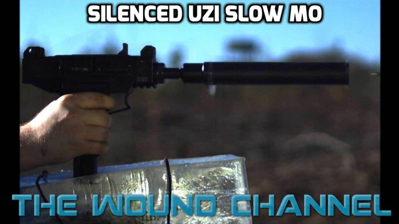 Silenced Uzi Slow Motion