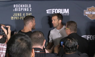 Rockhold and Bisping's post-fight confrontation