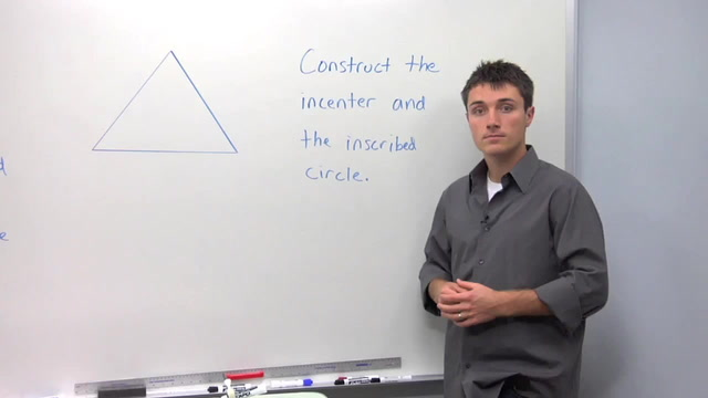 Constructing the Incenter - Problem 1