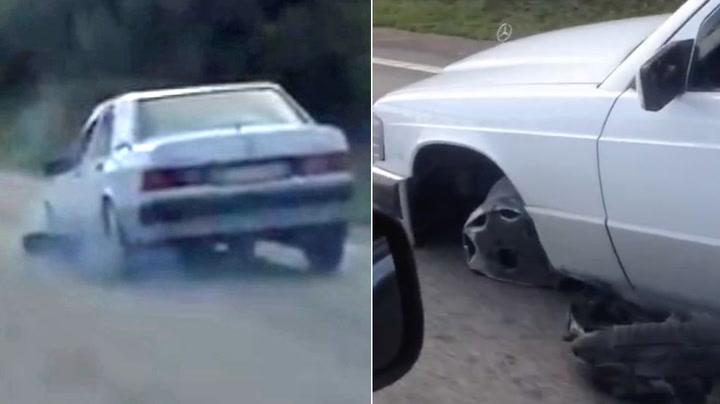 Bilisten lot seg ikke stoppe av en punktering
