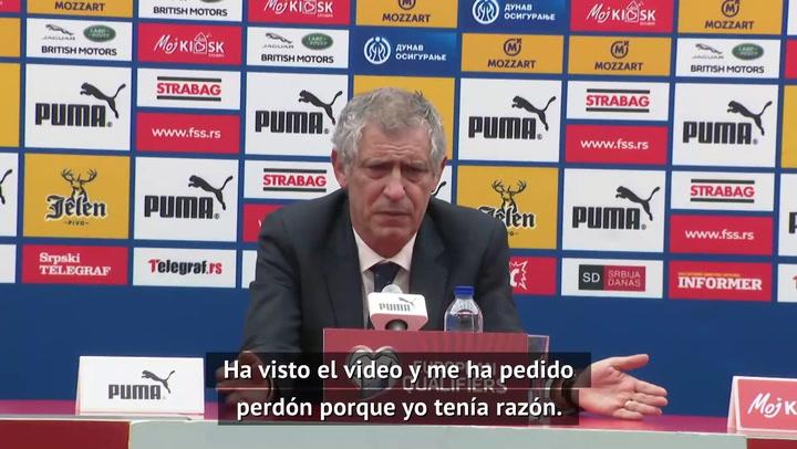 """Fernando Santos y el 'no gol' de Cristiano: """"El arbitro me ha pedido disculpas"""""""