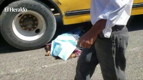 Una fémina pierde la vida al ser atropellada por un autobús en la ciudad de Choluteca