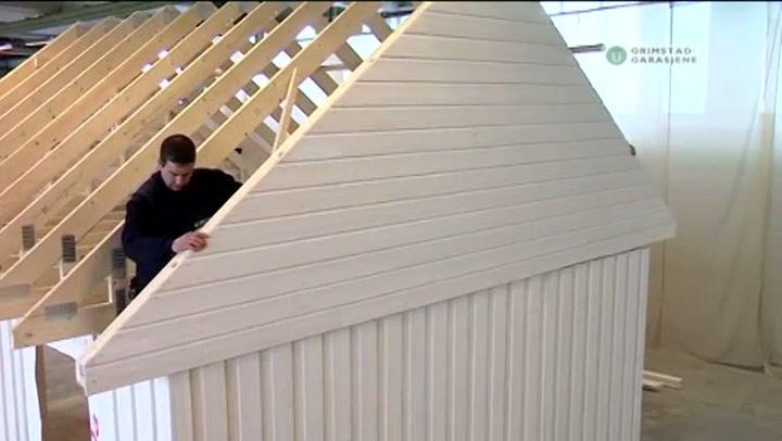 Bygge garasje: Hvordan montere takstoler