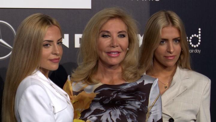 La espectacular reaparición de la sobrinas de Norma Duval, Andrea y Paula, en la \'Fashion Week Madrid\'