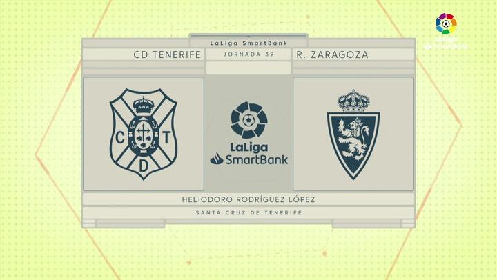 LaLiga SmartBank (J39): Resumen y goles del Tenerife 1-1 Zaragoza