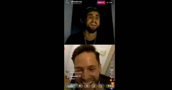 Januzaj y Remiro se entretienen cantando el hit de Tusa en un directo de Instagram