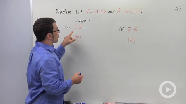 The Dot Product of Vectors - Problem 3