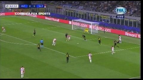 Inter de Milán empató 1-1 con Slavia Praga